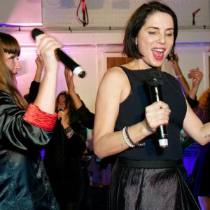 Sadie Frost with Sway Allstars