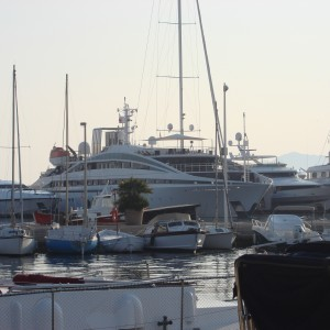 Sway Allstars - Our yacht in Cannes Harbour