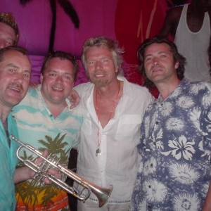 Sir Richard Branson with Sway Allstars in Grenada