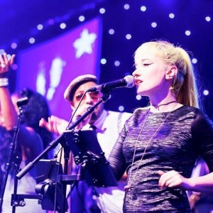 Sway Allstars sing at the Hilton Park Lane in London