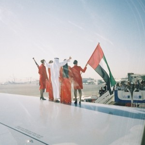 Sir Richard Branson arriving in Dubai